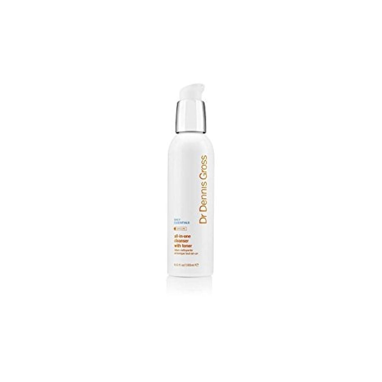 巡礼者フェザーキャラバンデニスグロスオールインワントナー(180ミリリットル)とフェイシャルクレンザー x4 - Dr Dennis Gross All-In-One Facial Cleanser With Toner (180ml) (Pack...