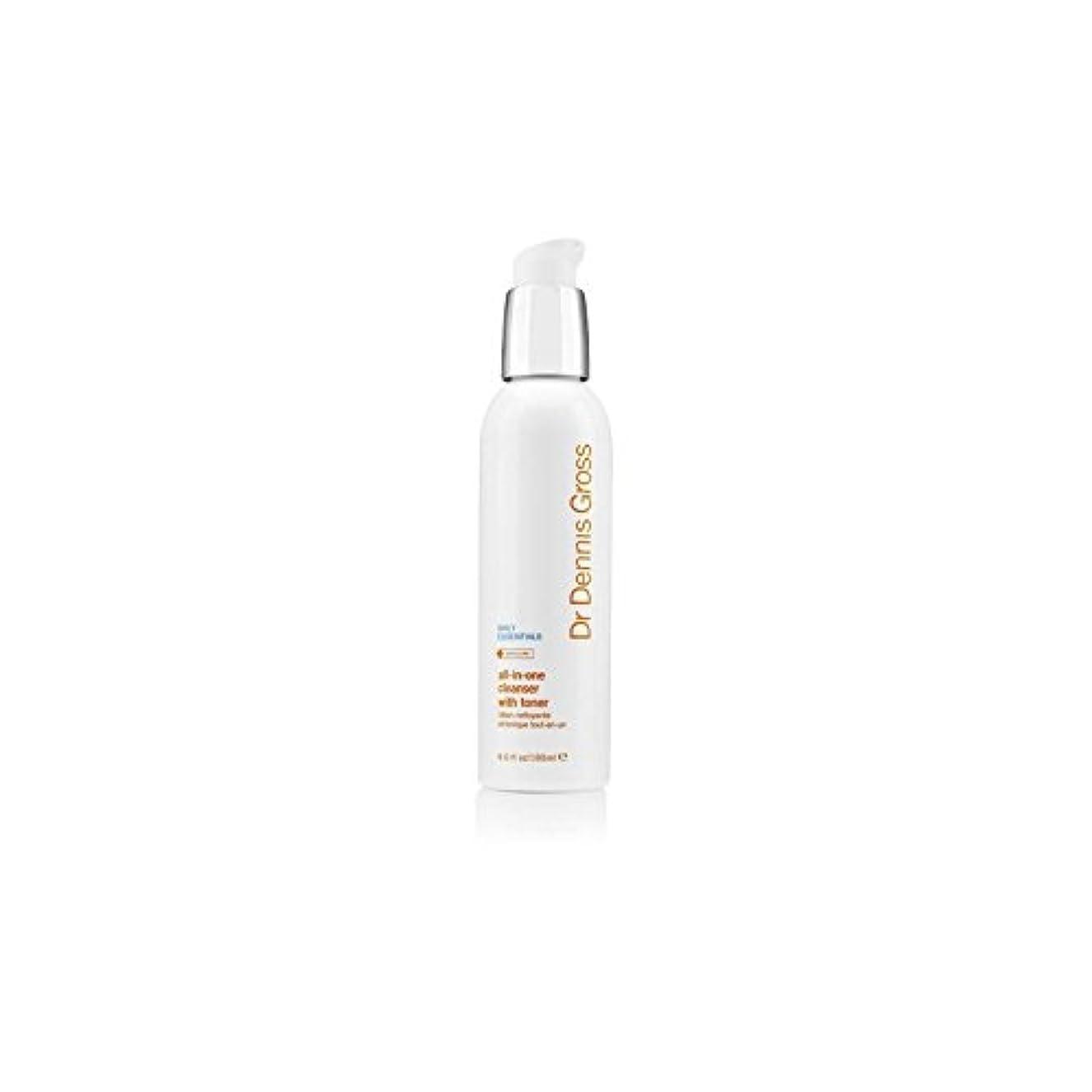 前書き膜インディカデニスグロスオールインワントナー(180ミリリットル)とフェイシャルクレンザー x4 - Dr Dennis Gross All-In-One Facial Cleanser With Toner (180ml) (Pack...