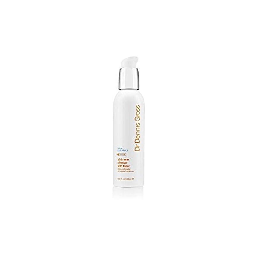 でもかろうじて蜜デニスグロスオールインワントナー(180ミリリットル)とフェイシャルクレンザー x4 - Dr Dennis Gross All-In-One Facial Cleanser With Toner (180ml) (Pack...