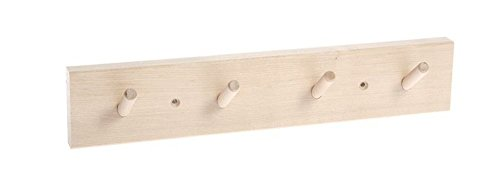 RoomClip商品情報 - Iris Hantverkバーチ木製壁ラック4フック付き