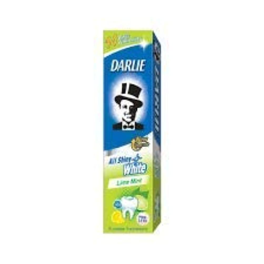 ましい協定かんたんDARLIE 歯磨き粉すべての光沢のあるホワイトライムミント140g - 虫歯と戦い、歯を保護するフッ化物を含みます