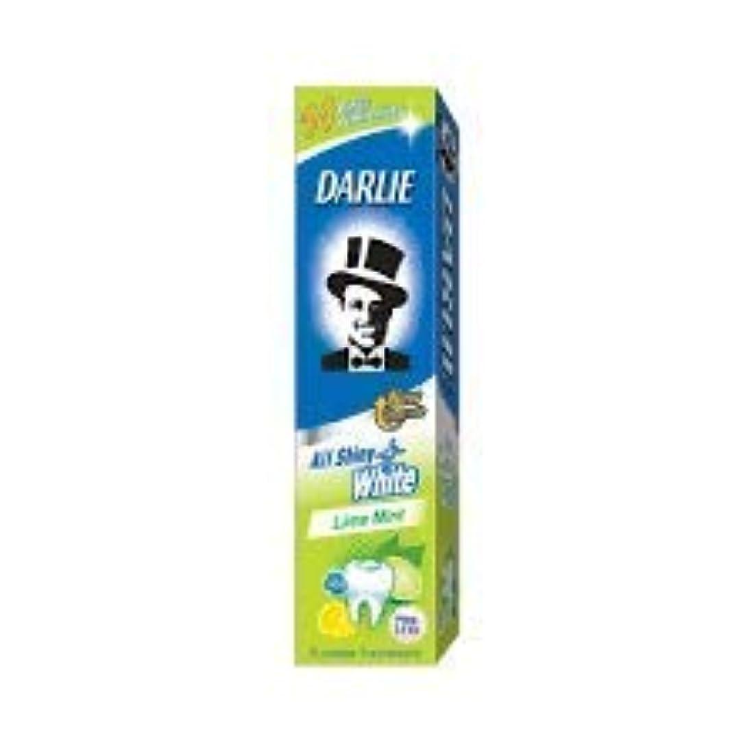 漏斗未知のコンパクトDARLIE 歯磨き粉すべての光沢のあるホワイトライムミント140g - 虫歯と戦い、歯を保護するフッ化物を含みます