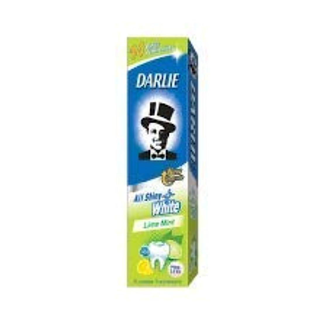 きつく趣味三角DARLIE 歯磨き粉すべての光沢のあるホワイトライムミント140g - 虫歯と戦い、歯を保護するフッ化物を含みます