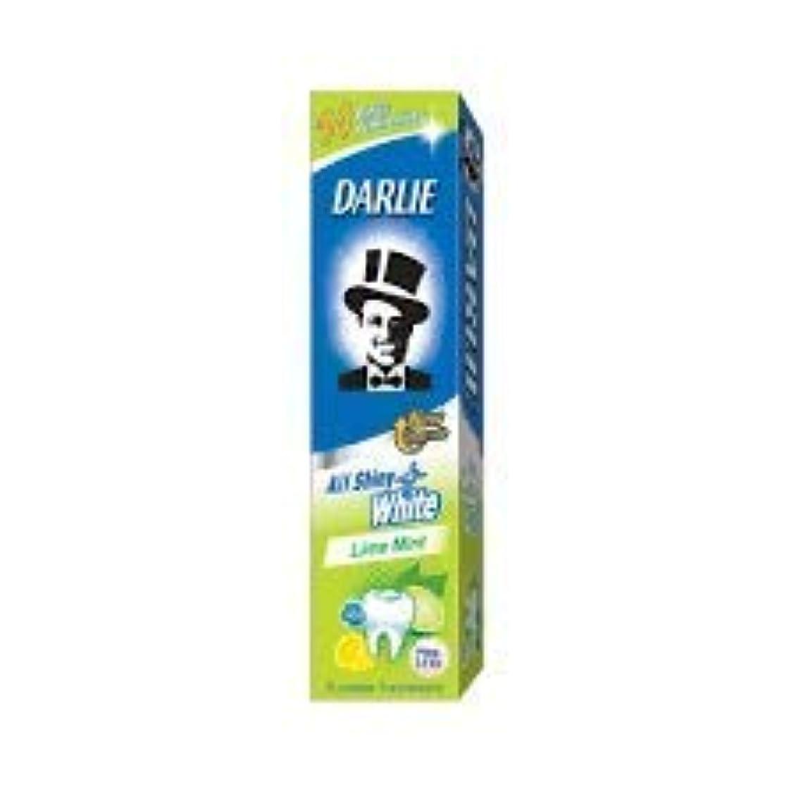 訪問軍隊異なるDARLIE 歯磨き粉すべての光沢のあるホワイトライムミント140g - 虫歯と戦い、歯を保護するフッ化物を含みます