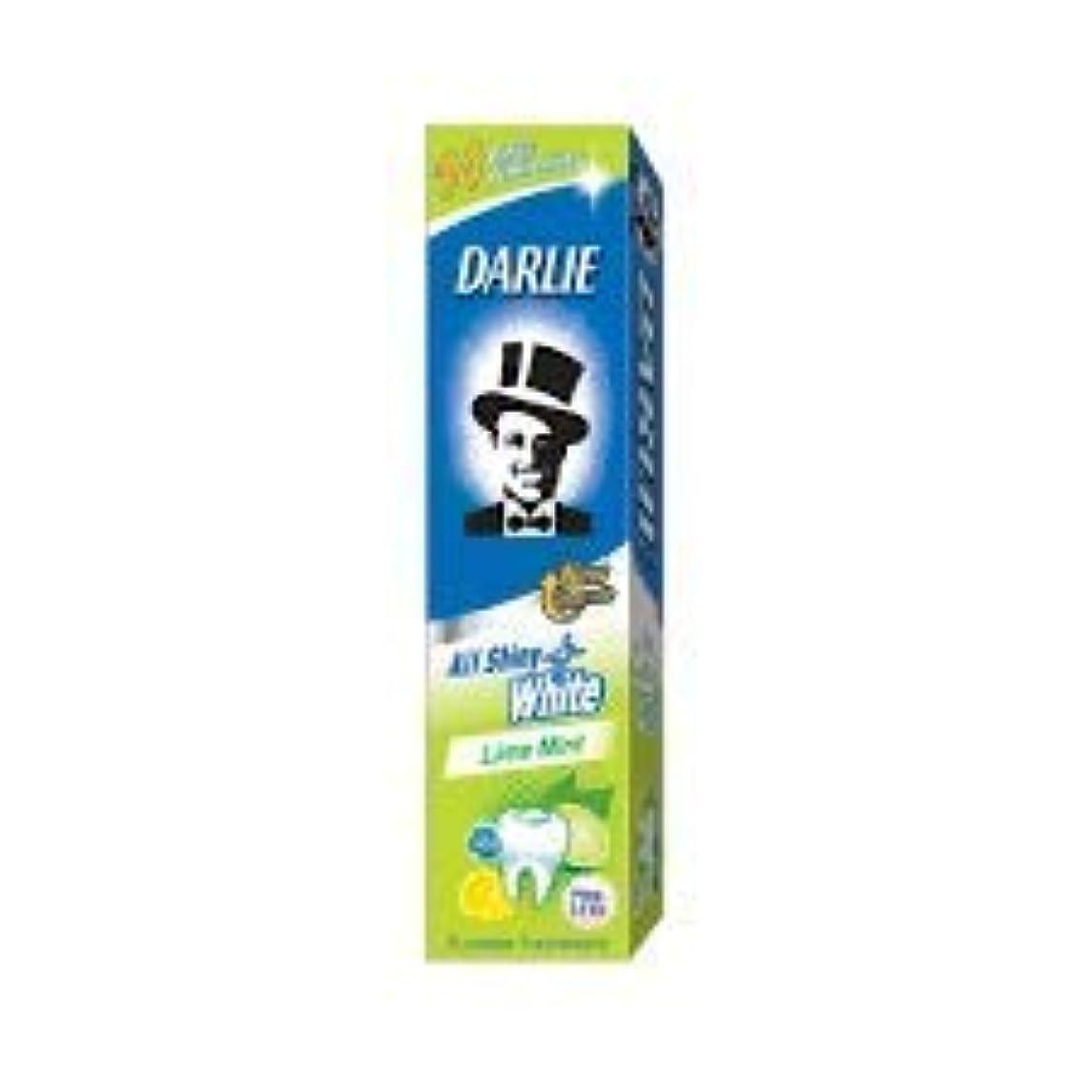 頭蓋骨習慣ファントムDARLIE 歯磨き粉すべての光沢のあるホワイトライムミント140g - 虫歯と戦い、歯を保護するフッ化物を含みます