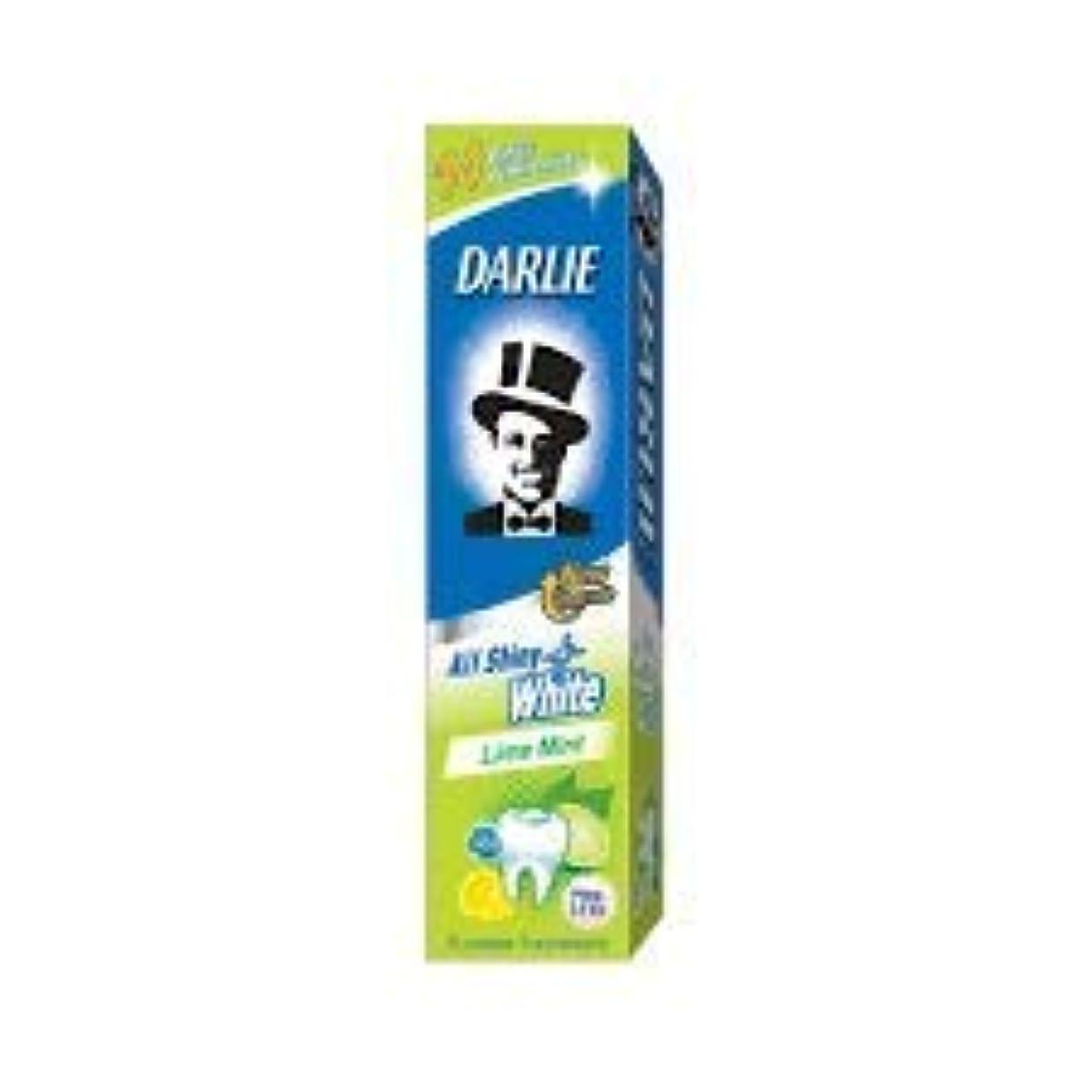 前兆光景血色の良いDARLIE 歯磨き粉すべての光沢のあるホワイトライムミント140g - 虫歯と戦い、歯を保護するフッ化物を含みます