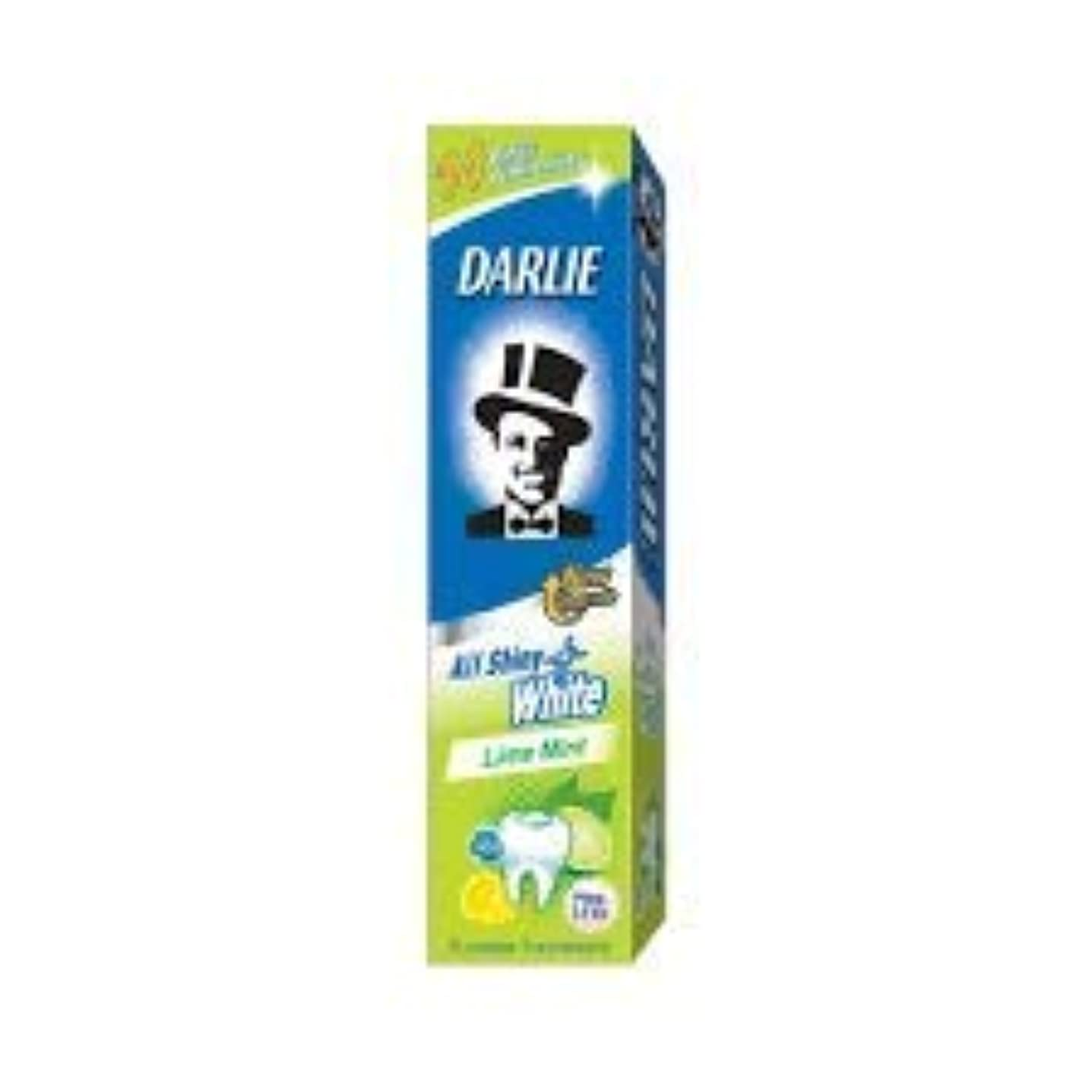DARLIE 歯磨き粉すべての光沢のあるホワイトライムミント140g - 虫歯と戦い、歯を保護するフッ化物を含みます