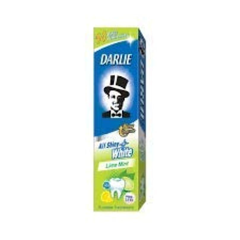 かび臭いする雹DARLIE 歯磨き粉すべての光沢のあるホワイトライムミント140g - 虫歯と戦い、歯を保護するフッ化物を含みます