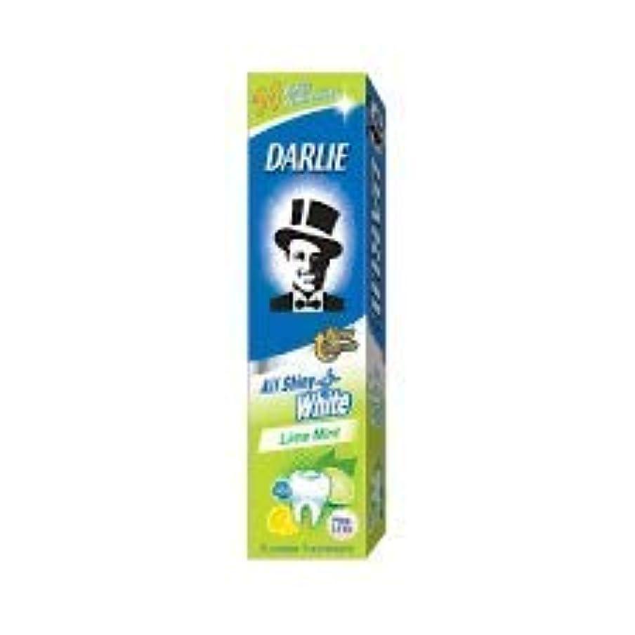 競争硬化する住むDARLIE 歯磨き粉すべての光沢のあるホワイトライムミント140g - 虫歯と戦い、歯を保護するフッ化物を含みます