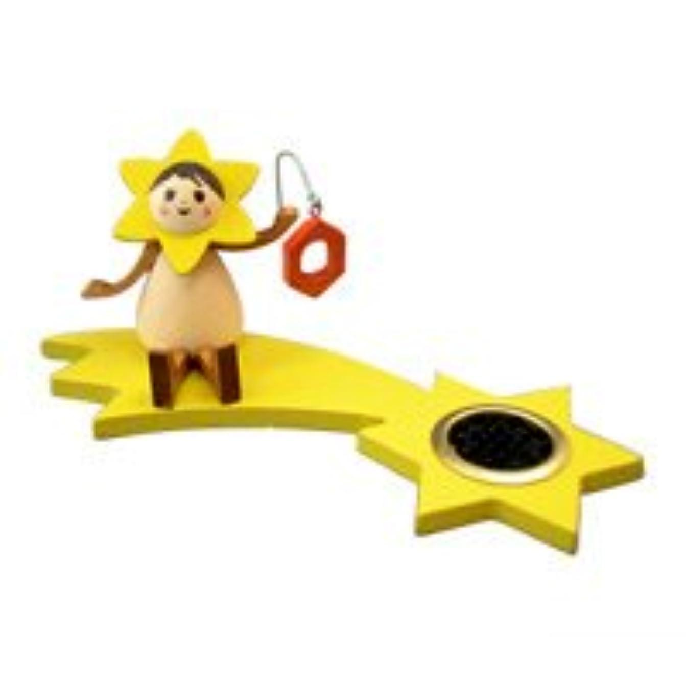 没頭するケニアパリティクーネルト インセンススタンド(香皿) 星の妖精 ランプ(座り)