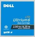 Dell lto-6テープ2.5tb / 6.25tb、デルlto-6Ultrium、パーツ# 342–5450/ 3W22t