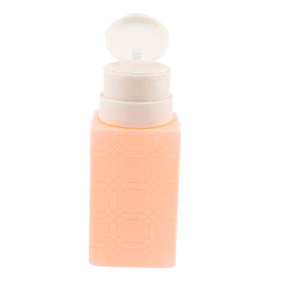甘くする通行料金分数200ミリリットルネイルアートのヒント空ディスペンサーアクリルリムーバーポンプボトル - オレンジ