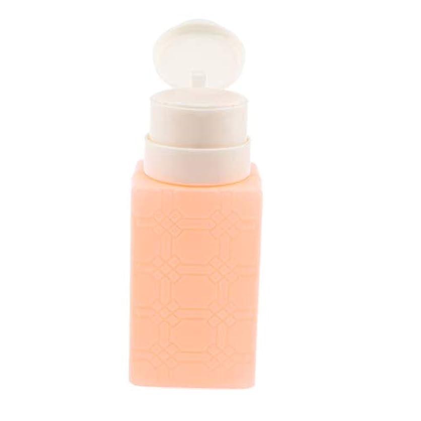 トリプルスパーク曲200ミリリットルネイルアートのヒント空ディスペンサーアクリルリムーバーポンプボトル - オレンジ