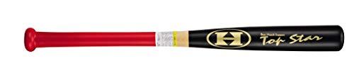 ハイゴールド 木製 バット 超極太 グリップ 打撃可能 75cm TRB-75 ブラック×レッド 75cm/1~1.2kg