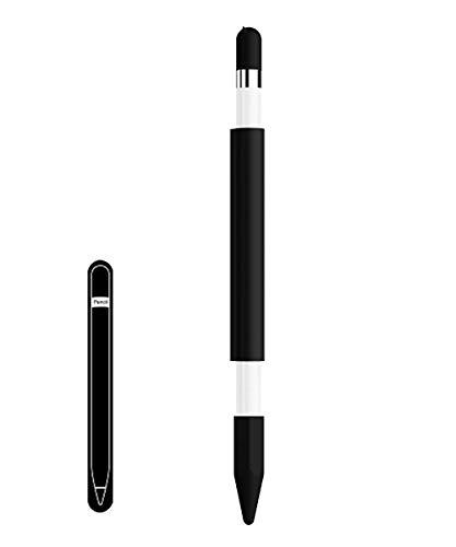 Apple pencilマグネットケース、ペン先カバーとキャップカバー付き、ブラック