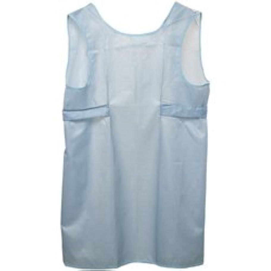 ジュニア含意アンティーク入浴介護用エプロン ショート / ブルー 1枚
