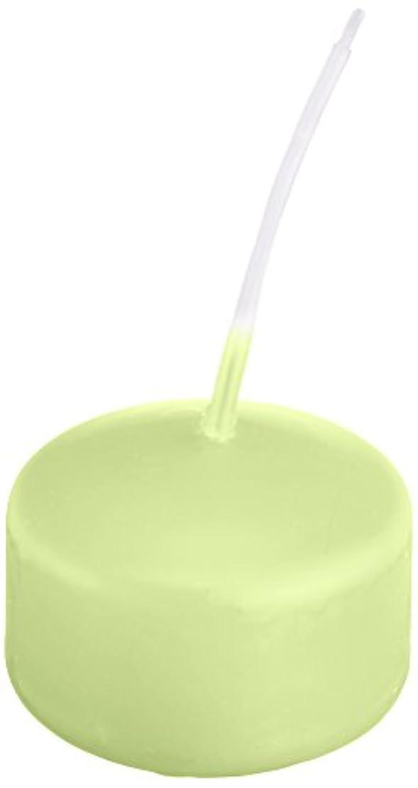 大量コスト排出キャンドル ハッピープール(カラーアトリエ) 「 ホワイトグリーン 」 24個入り 72800000WG