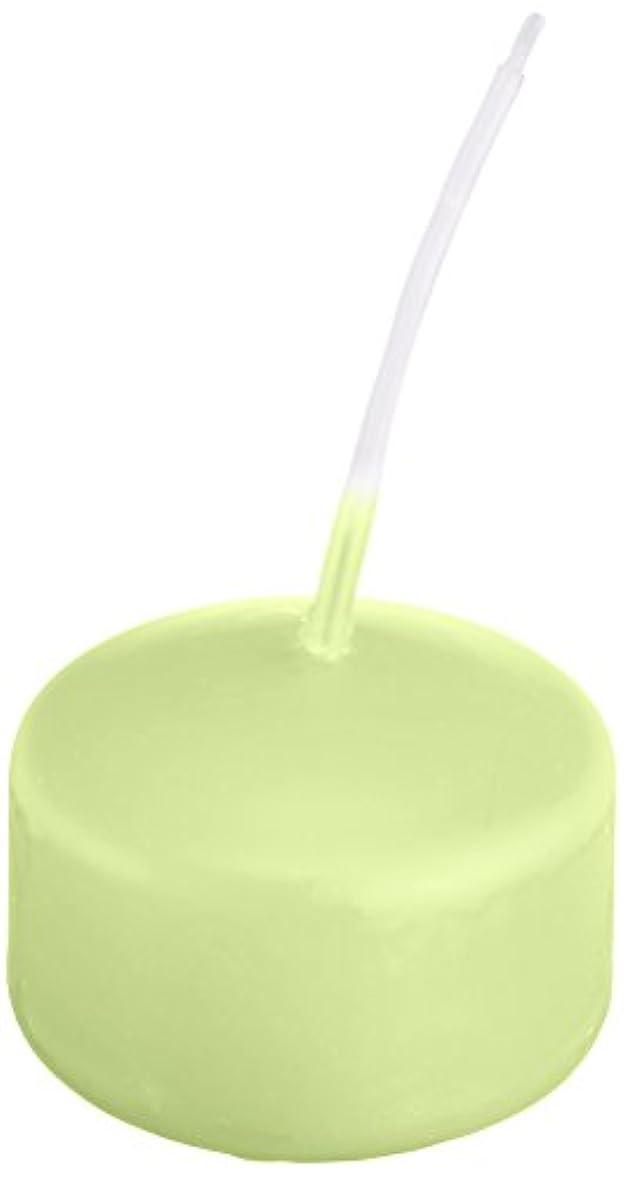 額毎回そこキャンドル ハッピープール(カラーアトリエ) 「 ホワイトグリーン 」 24個入り 72800000WG