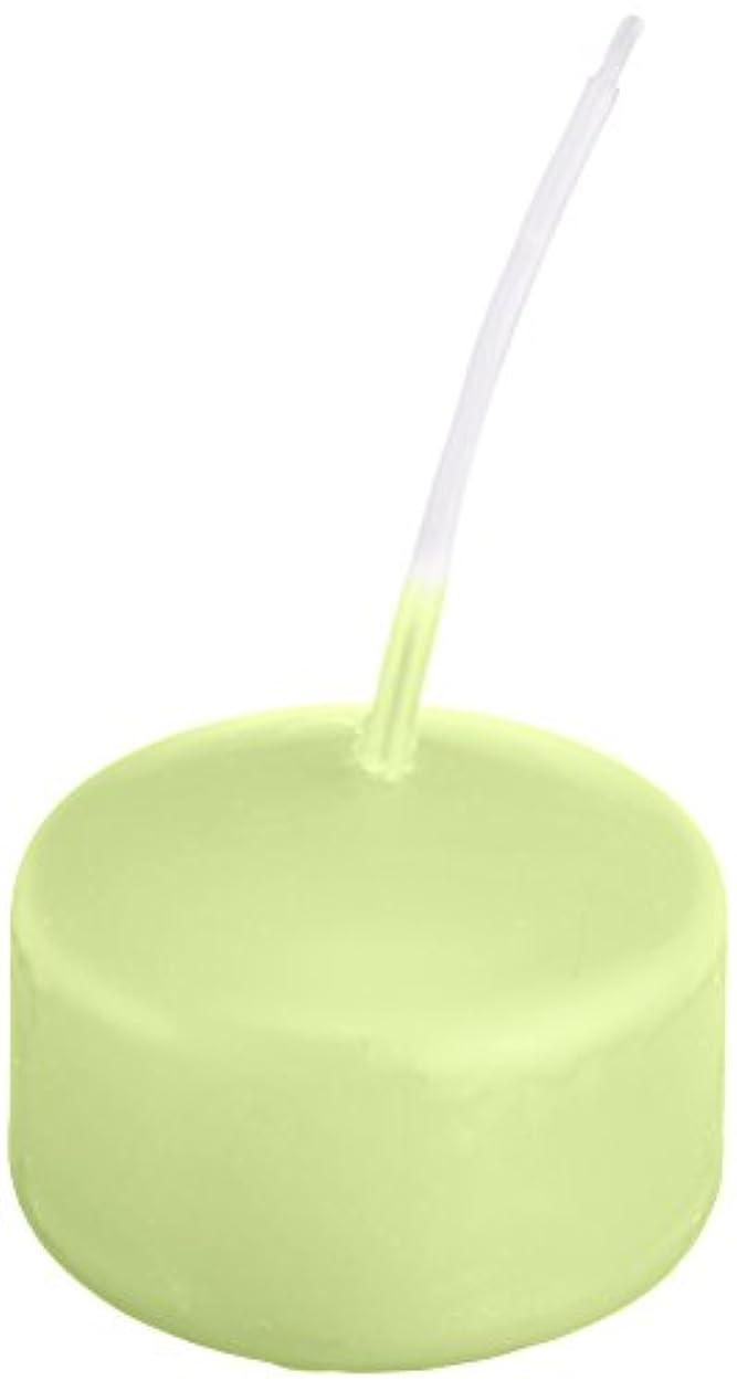 驚発明チチカカ湖キャンドル ハッピープール(カラーアトリエ) 「 ホワイトグリーン 」 24個入り 72800000WG