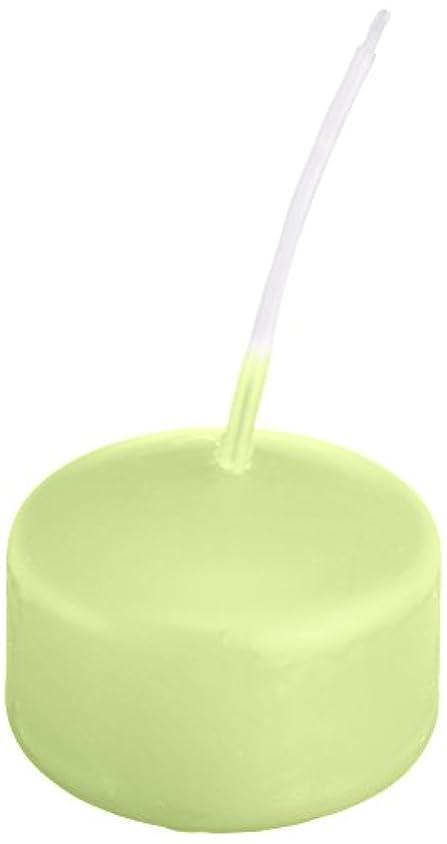 盟主スプーン巨人キャンドル ハッピープール(カラーアトリエ) 「 ホワイトグリーン 」 24個入り 72800000WG