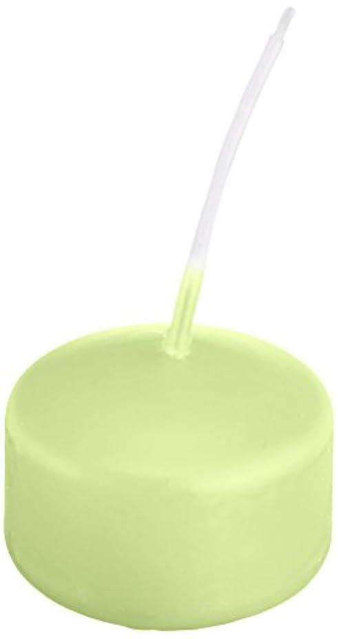 せせらぎ現在欲求不満キャンドル ハッピープール(カラーアトリエ) 「 ホワイトグリーン 」 24個入り 72800000WG