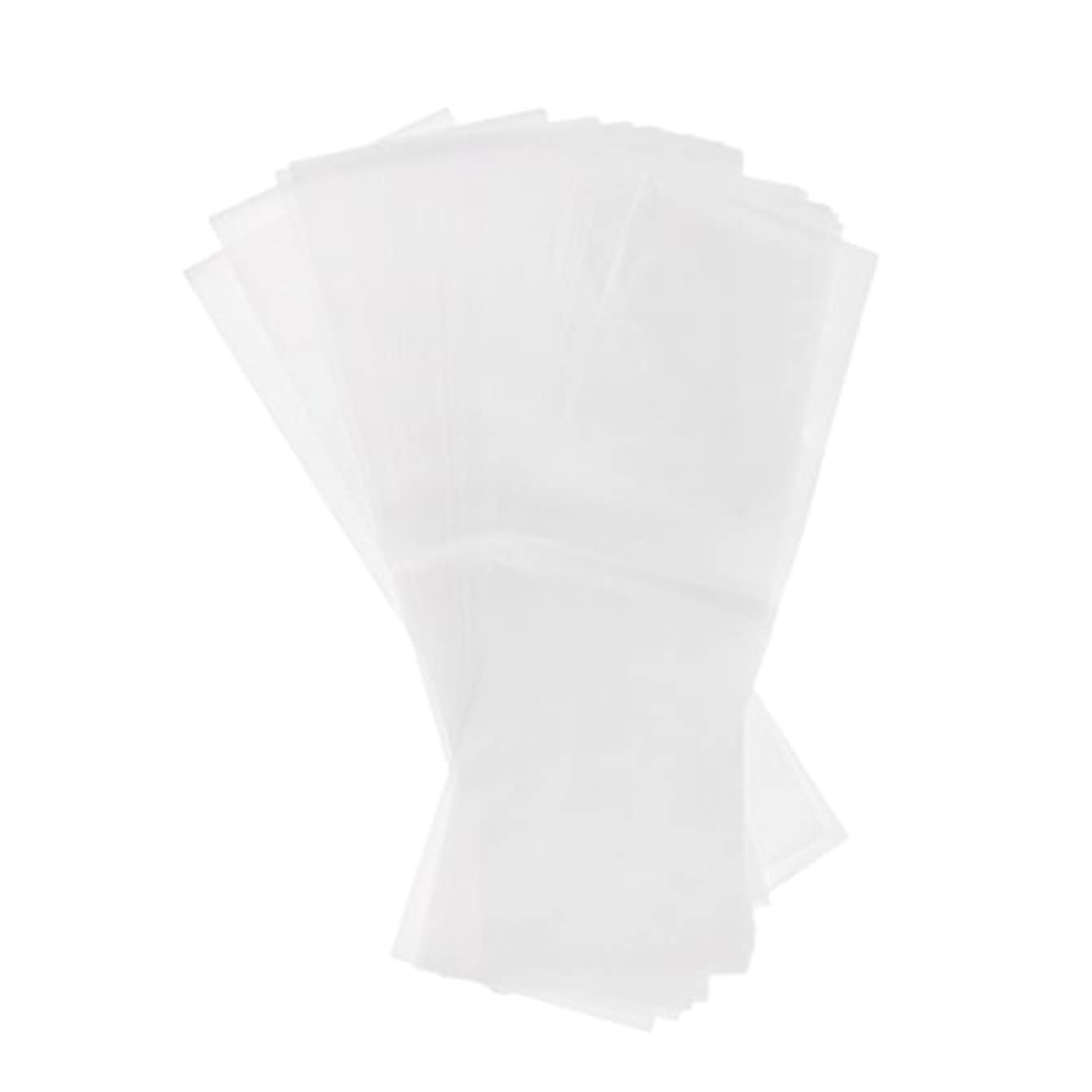 約50枚 毛染め 分版用紙 プラスチック製 染毛紙 色のハイライト おしゃれ染め 2仕様選べる - ホワイト