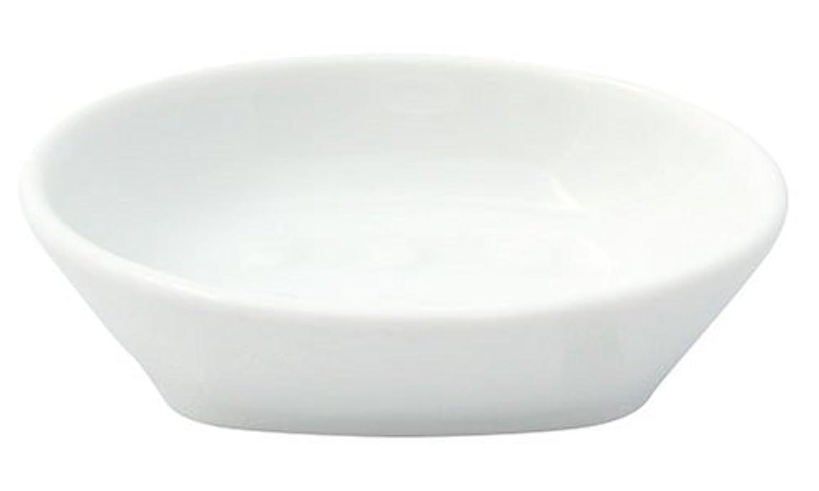 到着するまぶしさ器用フリート ホワイトポーセレン ソープディッシュ