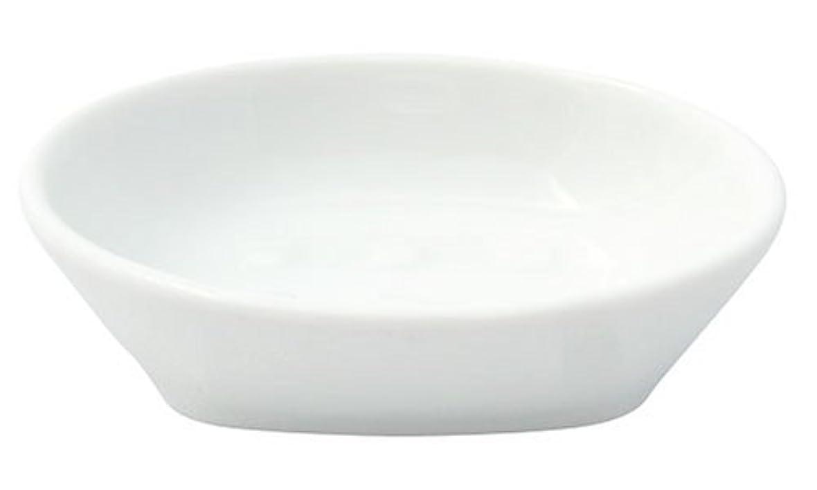 花輪対角線モザイクフリート ホワイトポーセレン ソープディッシュ
