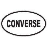 コンバース サイズ More楕円形ステッカー、Converse、ビニール車デカール、複数の色、複数のサイズ 20-by-20 inches ブラック Converse 'B20'
