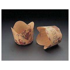 天満紙器 チューリップカップ茶 M-306100枚入 WTY65306