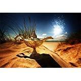 leyiyi 6x 4ft写真背景Magic Aladdins Genie lamp Backdrop Fairy TaleランタンServantプリンセスKing Palace Desert Sunset WesternフォトPortraitビニールStudioビデオProp