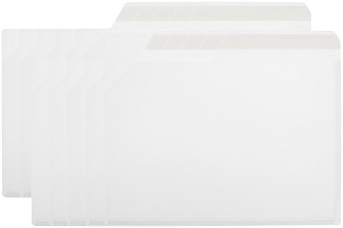 ナカバヤシ クリアファイル どっさり個別ホルダー A4 10枚 ホワイト CH-4131W-10