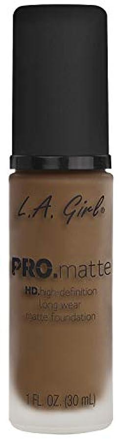 未亡人ナチュラル時期尚早L.A. GIRL Pro Matte Foundation - Deep Tan (並行輸入品)