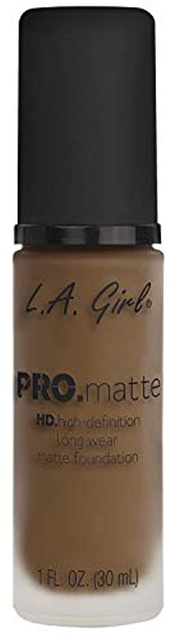 プランテーションアーティファクト最大L.A. GIRL Pro Matte Foundation - Deep Tan (並行輸入品)