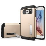 Galaxy S6 ケース, Spigen® [ 衝撃吸収パターン加工] スリム・アーマー Galaxy S6 Case (国内正規品) (2015) (シャンパン・ゴールド 【SGP11329】)