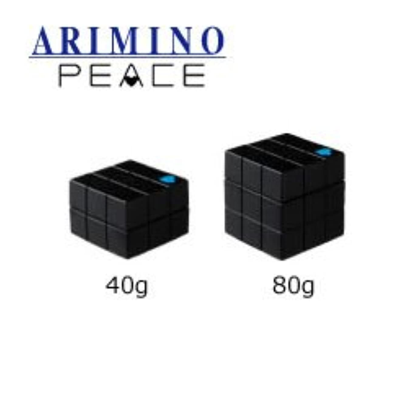 凝視日常的に悲鳴アリミノ ピース フリーズキープwax ブラック 40g