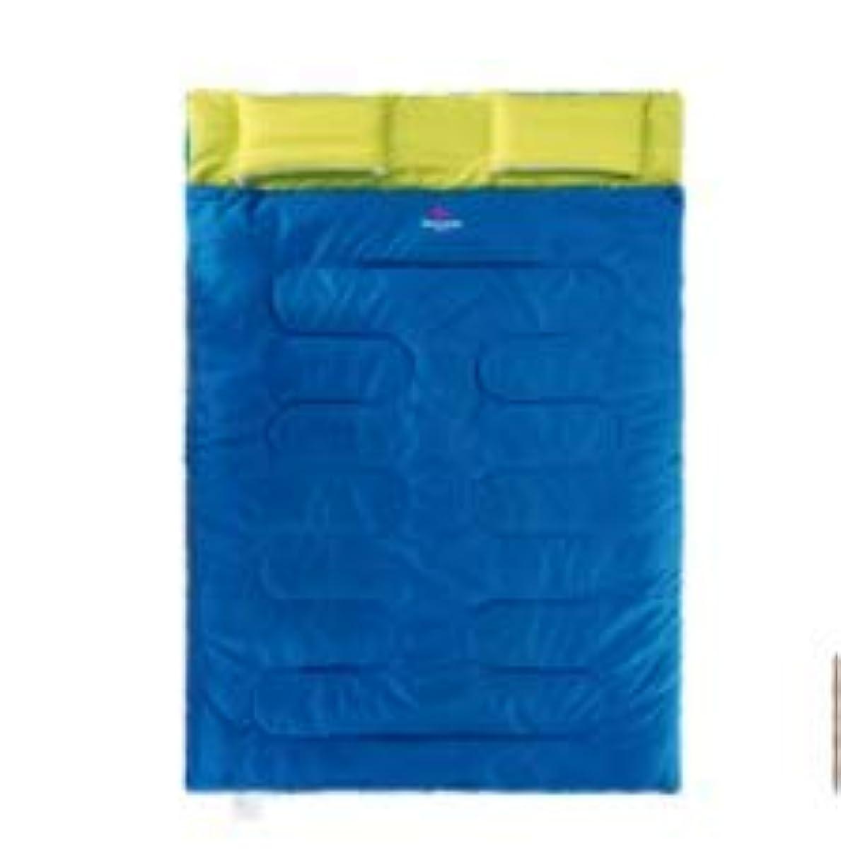 オン重力ハンディキャップカップルダブル寝袋大人の屋外の季節の綿のキャンプ暖かい厚い暖かい