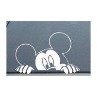 """ディズニー ミッキーマウス が探している車の窓を覗く デカールステッカー-SM0008-4 """"L×6"""" W (並行輸入品)"""