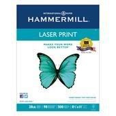 "Hammermillレーザー印刷用紙、28lb。98、GE / 112ISO、8–1/ 2"" x11"" 500/ RM、We"
