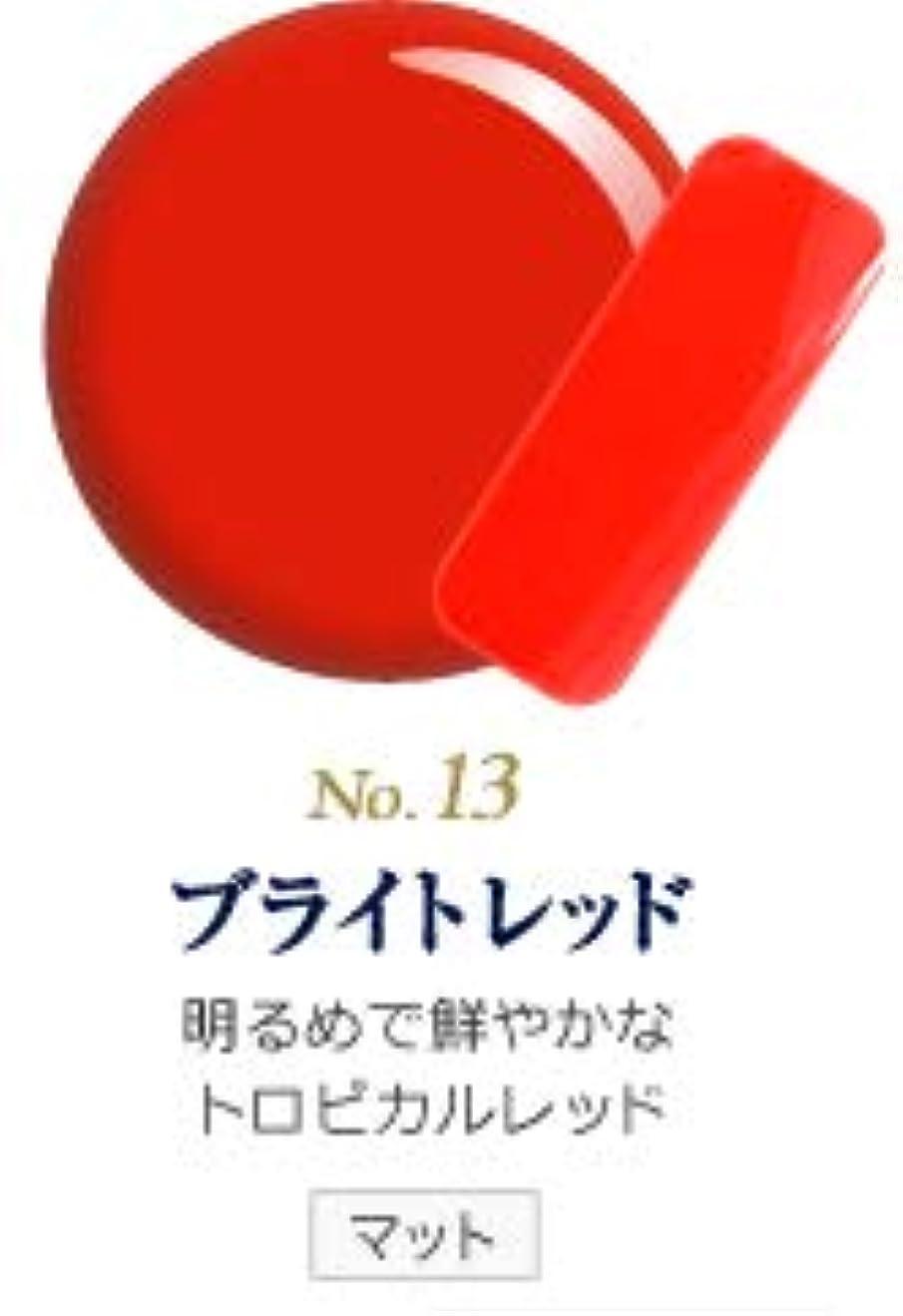 しょっぱいりんごオペレーターカラージェル 発色抜群 削らなくてもオフが出来る 新グレースジェルカラーNo.11~No.209 (ブライトレッド)