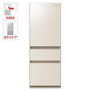 パナソニック 315L 3ドア冷蔵庫(クリアシャンパン)【右開...