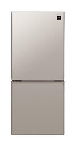 シャープ プラズマクラスター搭載 冷蔵庫 137L(幅48.0cm) つけかえどっちもドア メタリックベージュ SJ-GD14D-C