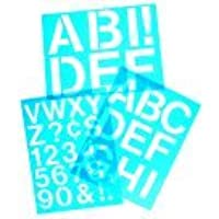 Westcott Plastic Die-Cut Capital Letter Stencil, 3 In., Clear Blue