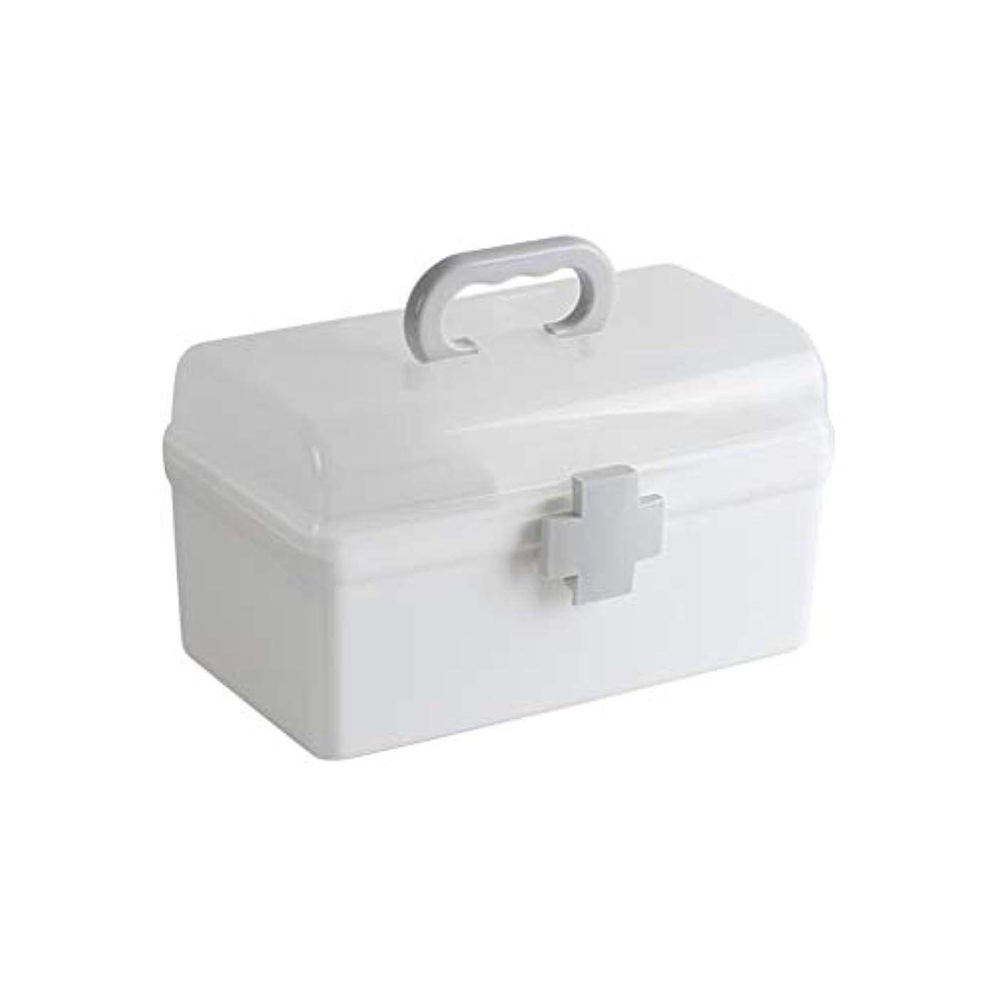 薬箱家庭用家族収納ボックス小さなプラスチック多層子供の薬箱 LIUXIN (Size : 22.5cm×13cm×12.5cm)