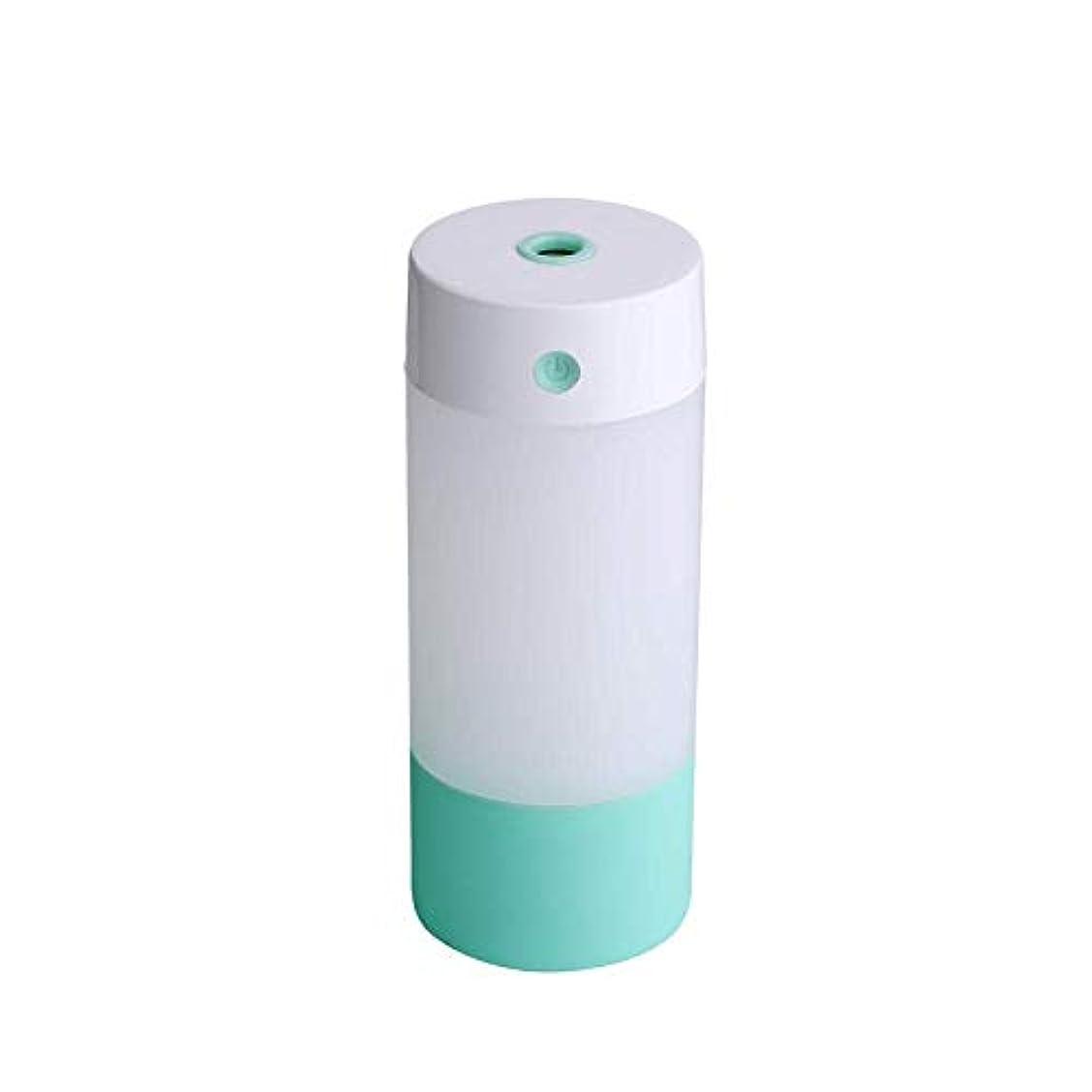 黒人マイル対話SOTCE アロマディフューザー加湿器超音波霧化技術のライトカー満足のいく解決策連続霧モード湿潤環境 (Color : Green)