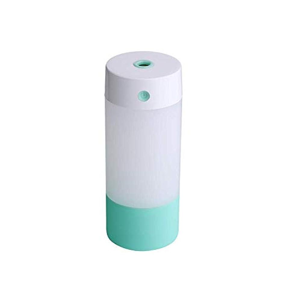 質量パトワシーズンSOTCE アロマディフューザー加湿器超音波霧化技術のライトカー満足のいく解決策連続霧モード湿潤環境 (Color : Green)