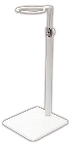50cmドール用金属製スタンド (白) スクエアー標準タイプ