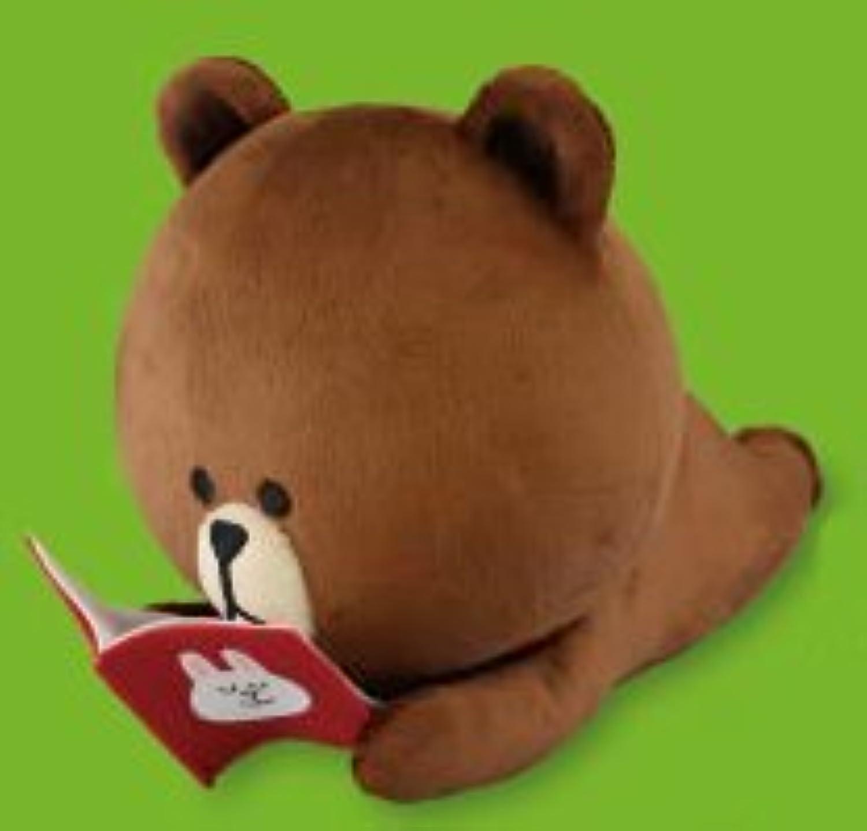 HELLO, FRIENDS LINE 寝ころびBIGぬいぐるみ ブラウン