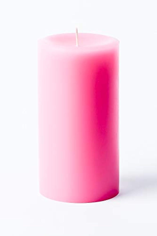 ちっちゃい契約する入浴(Pink) - 7.6cm x 15cm Hand Poured Solid Colour Unscented Pillar Candles Set of 3 - Made in USA (Pink)