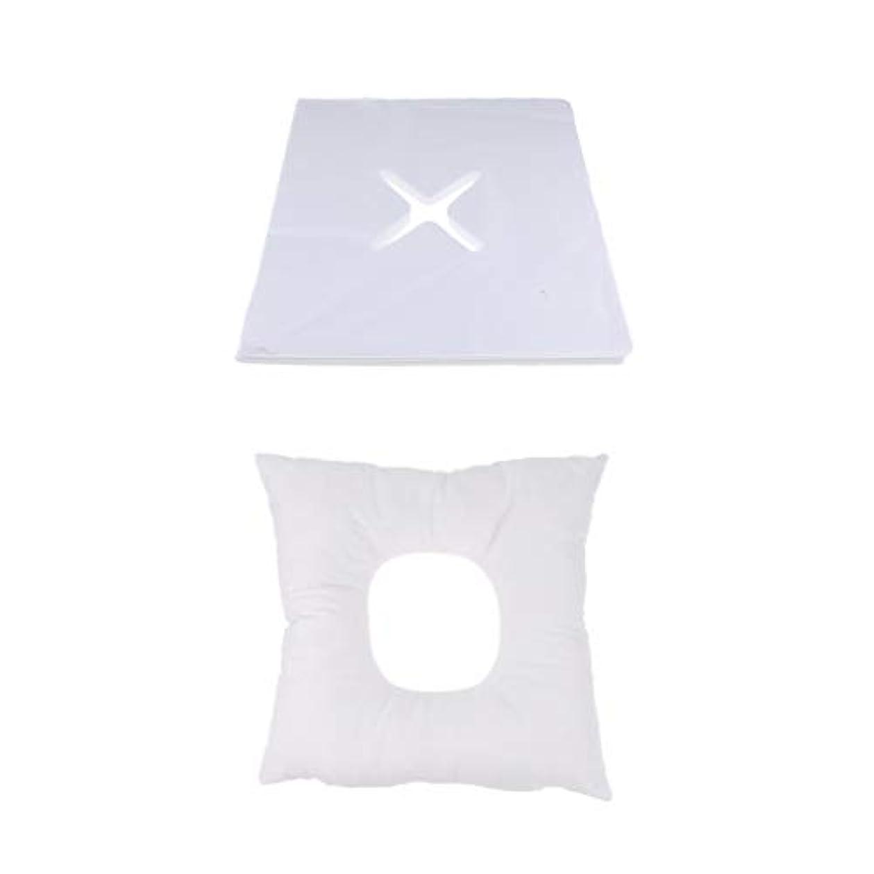 D DOLITY マッサージ枕 顔枕 フェイスマット 200個使い捨てカバー付き 柔らかく快適
